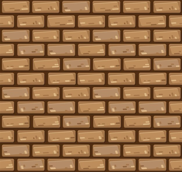 Muro di mattoni senza giunte di vettore.