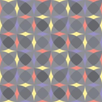 Reticolo geometrico grigio senza giunte di vettore