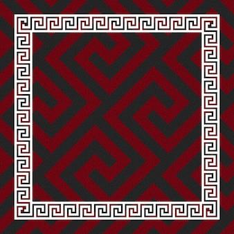 Ornamento greco senza cuciture di vettore, meandro