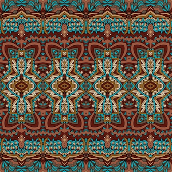 Vector seamless arte africana batik ikat. design vintage in tinta etnica.