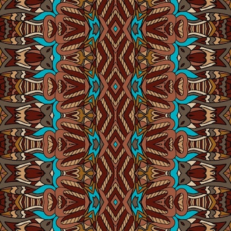 Reticolo senza giunte stile africano arte batik ikat. tappeto etnico tribale design.