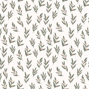 Reticolo senza giunte di foglie semplici su sfondo beige