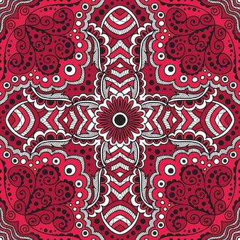 Reticolo rosso senza giunte di spirali, turbinii, catene di vettore