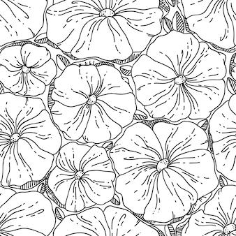 Reticolo dell'annata senza giunte di vettore con il fiore. può essere utilizzato per lo sfondo del desktop o come cornice per appendere a parete o poster, per riempimenti a motivo, trame di superfici, sfondi di pagine web, tessuti e altro ancora.