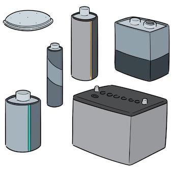 Set vettoriale della batteria