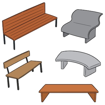 Set vettoriale di panchina