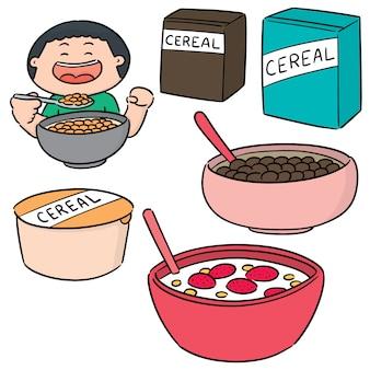 Vector set di cereali