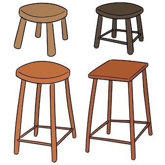 Set vettoriale di sedia