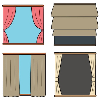 Set vettoriale di tende