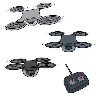 Set vettoriale di drone