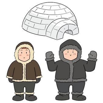 Set vettoriale di eskimo