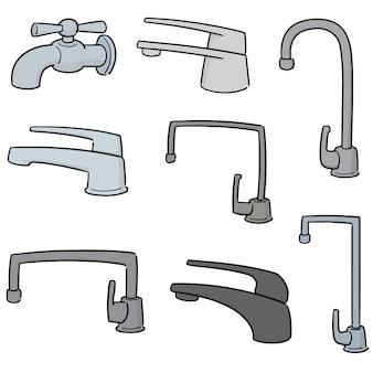 Set vettoriale di rubinetto