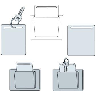 Set vettoriale di keycard