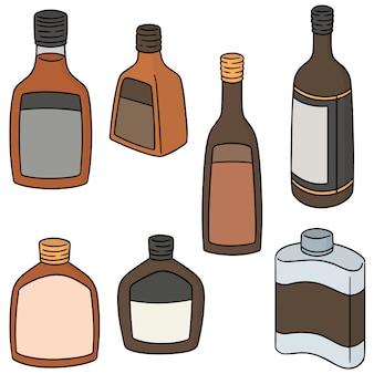 Set vettoriale di liquore