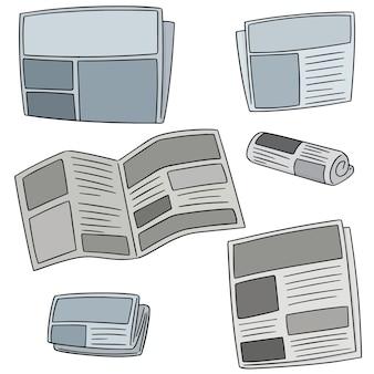 Set vettoriale di giornale