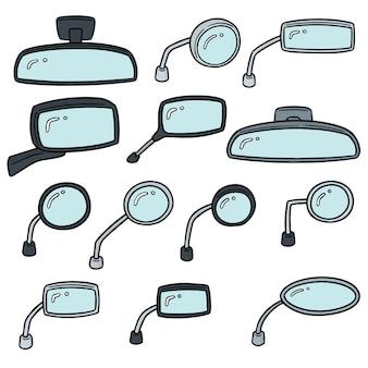 Set vettoriale di specchietti retrovisori