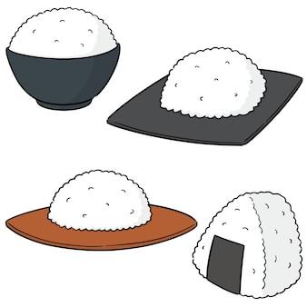 Set vettoriale di riso