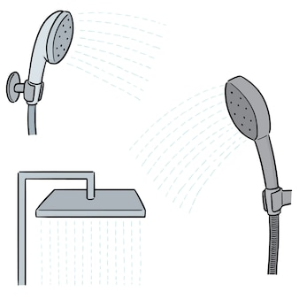 Vector set di doccia