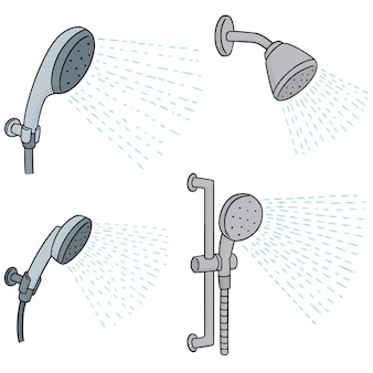 Set vettoriale di doccia