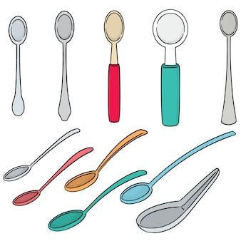 Set vettoriale di cucchiaio