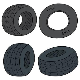 Set vettoriale di pneumatici