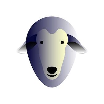 Pecore di vettore in stile sfumato. arte digitale