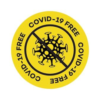 Segno vettoriale covid francobollo zona franca epidemia di coronavirus romanzo coronavirus ncov concetto di pandemia virus