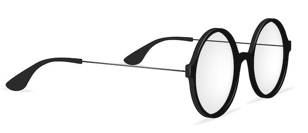 Occhiali rotondi semplici di vettore, occhiali