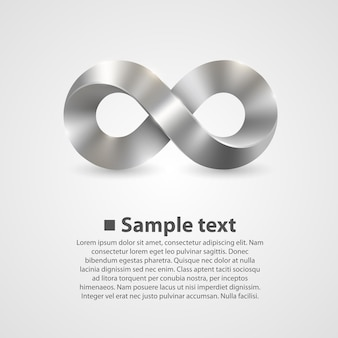 Simbolo di vettore dell'infinito. sfondo arte illustrazione
