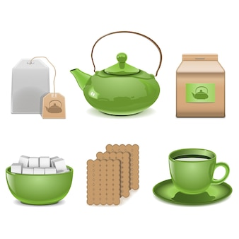 Icone del tè vettoriale