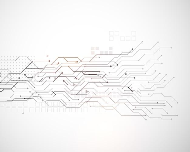 Vettore tecnologia sfondo del diagramma a rete