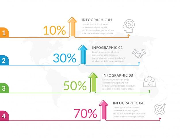 Vettore di infografica linea sottile