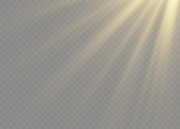 Effetto luce flash lente speciale luce solare trasparente vettoriale