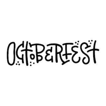 Parola di lettering alla moda vettoriale - octoberfest - per il design di banner e sovrapposizioni. composizione di linea astratta nera.