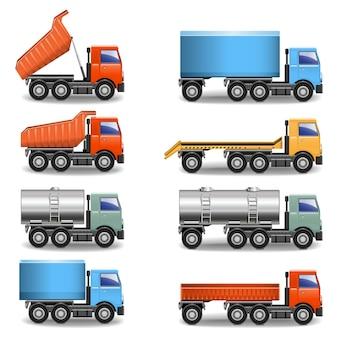 Icone del camion di vettore