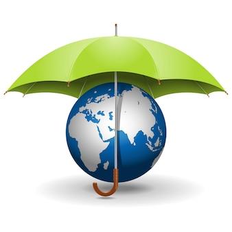 Ombrello e globo vettoriale