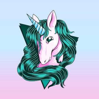 Vettore di un unicorno