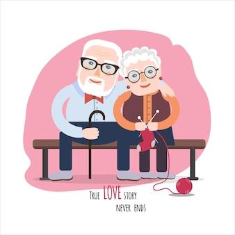 Cartolina di san valentino vettoriale con simpatici personaggi.