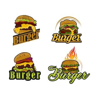 Etichetta di hamburger vintage vettoriale. illustrazione monocromatica di fast food disegnata a mano. ottimo per elemento logo, poster, icona, adesivo o etichetta.