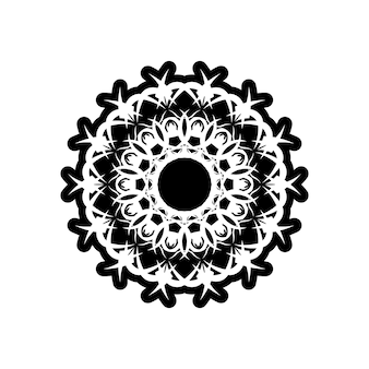 Reticolo dell'annata di vettore in stile vittoriano a forma di cerchio. motivo ornamentale per partecipazioni di nozze, biglietti di auguri. arredamento tradizionale a contrasto. mandala.