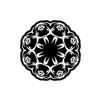 Reticolo dell'annata di vettore in stile vittoriano a forma di cerchio. elemento decorato per il design. motivo ornamentale per partecipazioni di nozze, biglietti di auguri. arredamento tradizionale a contrasto. mandala.