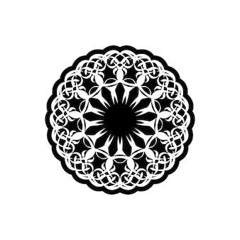 Reticolo dell'annata di vettore in stile vittoriano a forma di cerchio. elemento decorato per il design. motivo ornamentale per partecipazioni di nozze, biglietti di auguri.