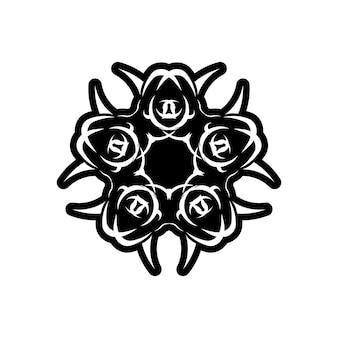 Reticolo dell'annata di vettore in stile vittoriano a forma di cerchio. elemento decorato per il design. arredamento tradizionale a contrasto. mandala.