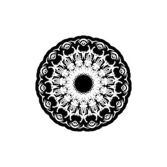 Reticolo dell'annata di vettore in stile vittoriano a forma di cerchio. elemento decorato per il design.