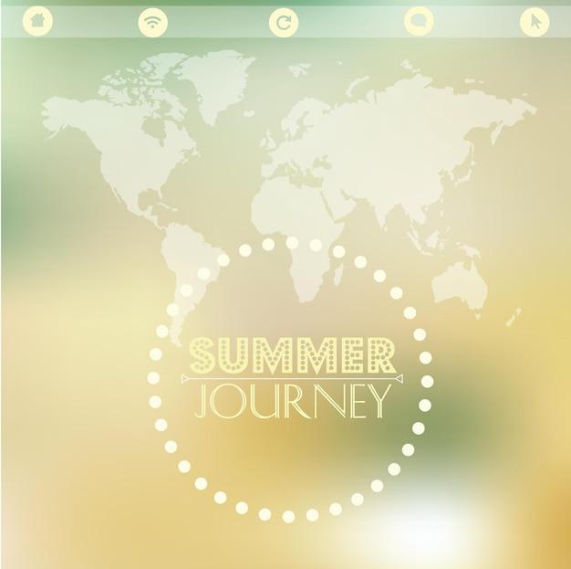 Mappa dell'acquerello di vettore, viaggio - sfondo sfocato per il design