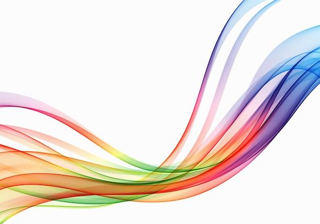 Fondo del flusso dell'onda di vettore fondo delle linee curve dello spettro astratto. onda colorata