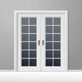 Vettore bianco a porta chiusa con telaio