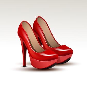 Scarpe moda donna vettoriale su tacchi alti