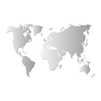 Mappa del mondo vettoriale.