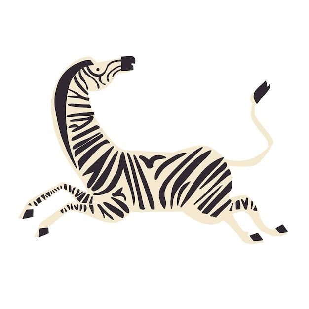 Risorsa grafica dell'illustrazione animale della zebra di vettore
